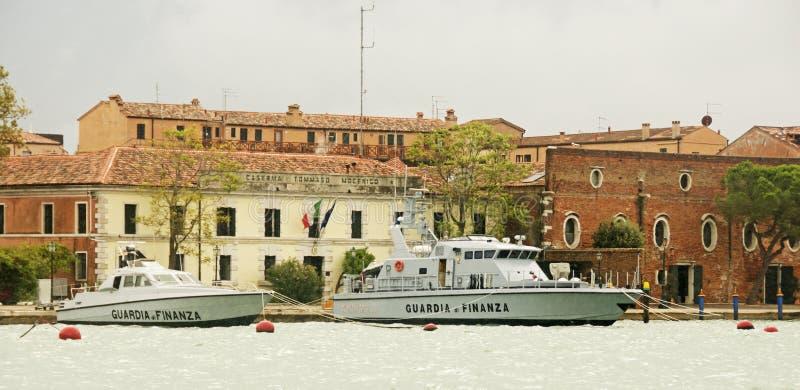 Italiaanse politie van Financiën stock foto