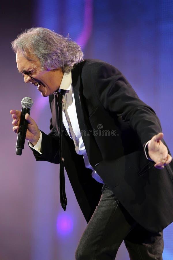 Italiaanse pop zanger Riccardo Fogli royalty-vrije stock afbeeldingen