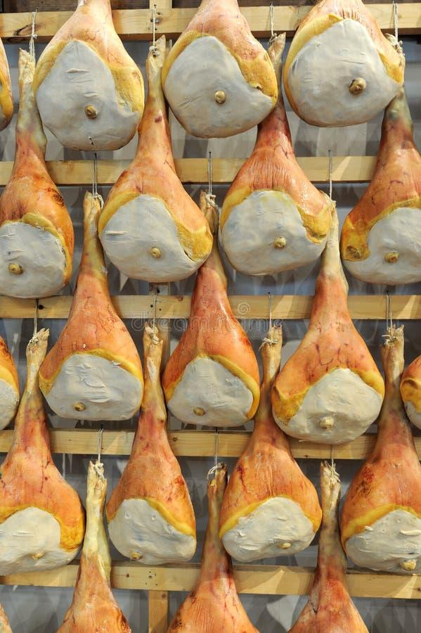 Italiaanse prosciutto stock afbeelding