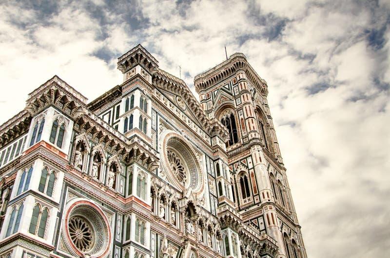 Italiaanse Renaissance Toscanië, Florence, Santa Maria del Fiore en Campanile Di Giotto royalty-vrije stock afbeelding