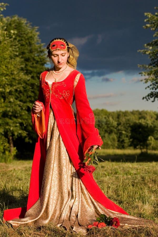 Italiaanse renaissancekleding stock afbeeldingen