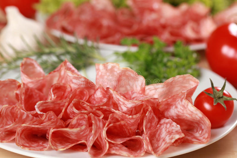 Italiaanse Salami royalty-vrije stock fotografie