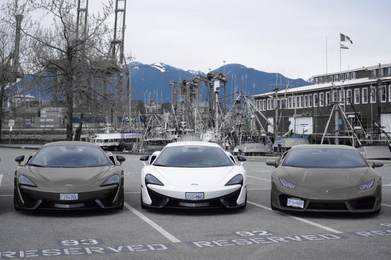 Italiaanse sportwagens stock afbeelding