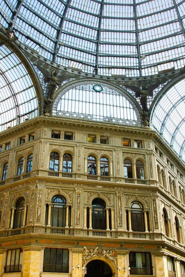 Italiaanse stad Napels, Galleria Umberto stock foto's