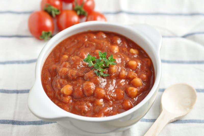 Italiaanse Tomaat Bean Soup stock afbeeldingen