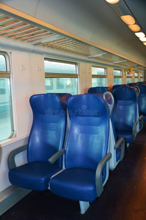 Italiaanse trein, binnen royalty-vrije stock afbeelding