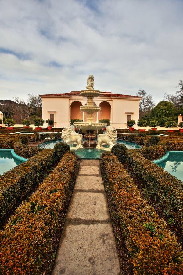 Italiaanse Tuin in Hamilton Gardens stock afbeelding