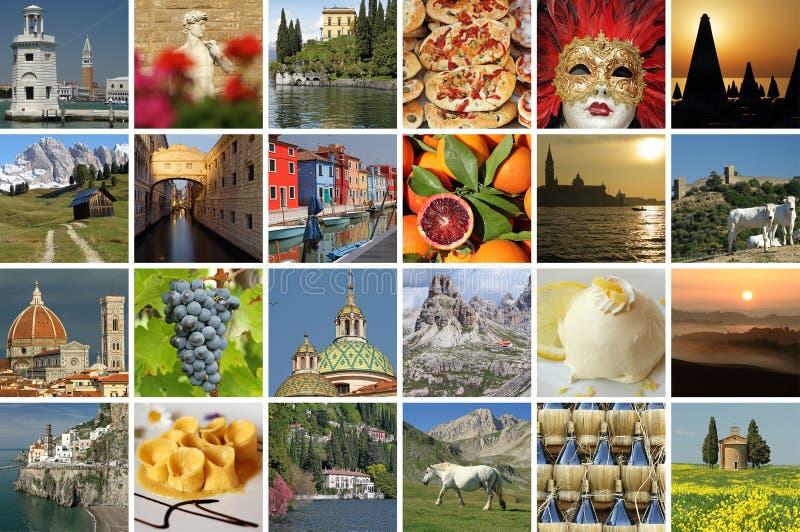 Italiaanse vakantiecollage stock afbeeldingen
