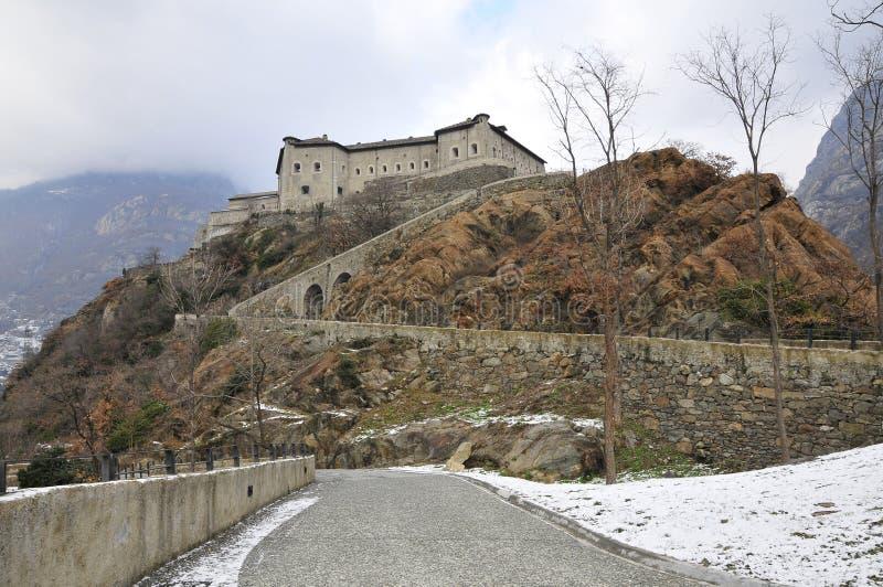 Italiaanse Valle van het Kasteel d'Aosta royalty-vrije stock afbeeldingen
