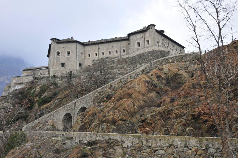 Italiaanse Valle van het Kasteel d'Aosta royalty-vrije stock afbeelding