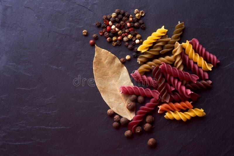 Italiaanse Veggie Deegwaren en Kruidreeks royalty-vrije stock afbeeldingen