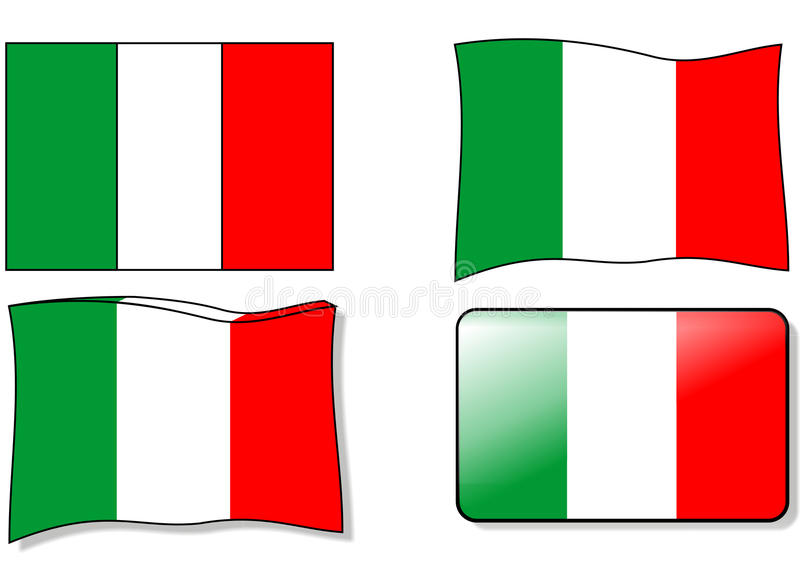 Italiaanse vlag vector illustratie