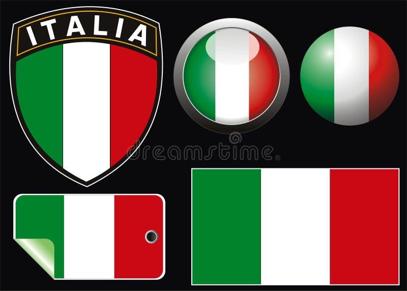 Italiaanse vlag stock illustratie