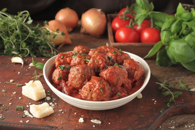 Italiaanse vleesballetjes royalty-vrije stock afbeelding