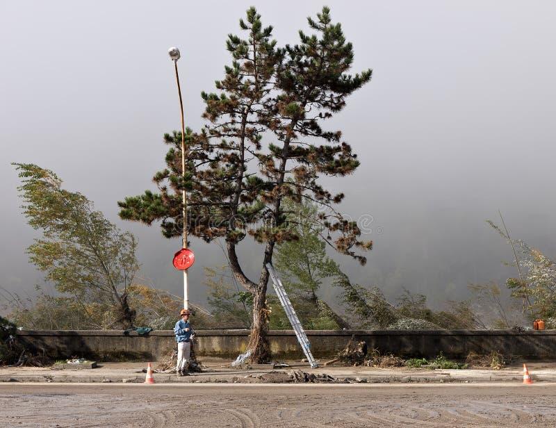 Italiaanse vloednasleep - bomen vellen stock afbeelding
