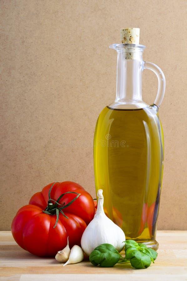 Italiaanse voedselingrediënten royalty-vrije stock foto