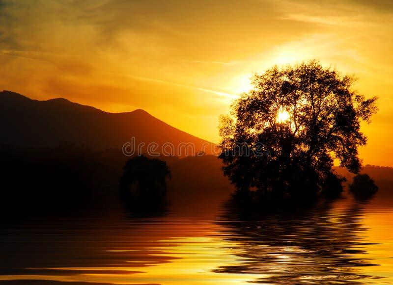 Italiaanse zonsondergang royalty-vrije stock foto's