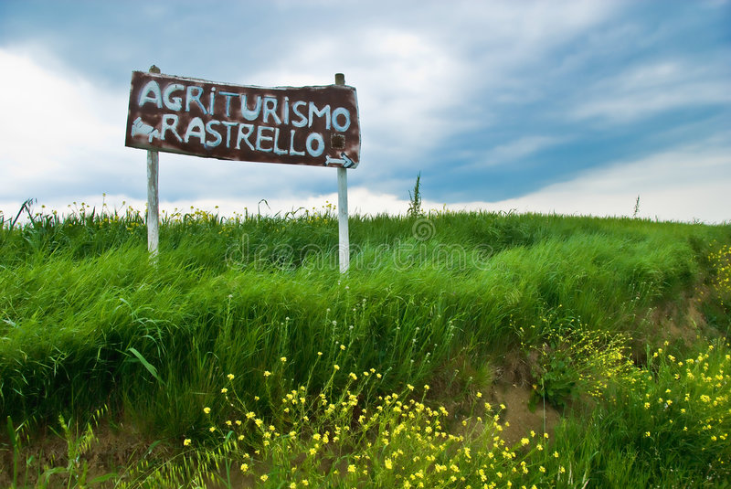 Download Italian Agriculture Sign In Tuscany Stock Image - Image: 8609267