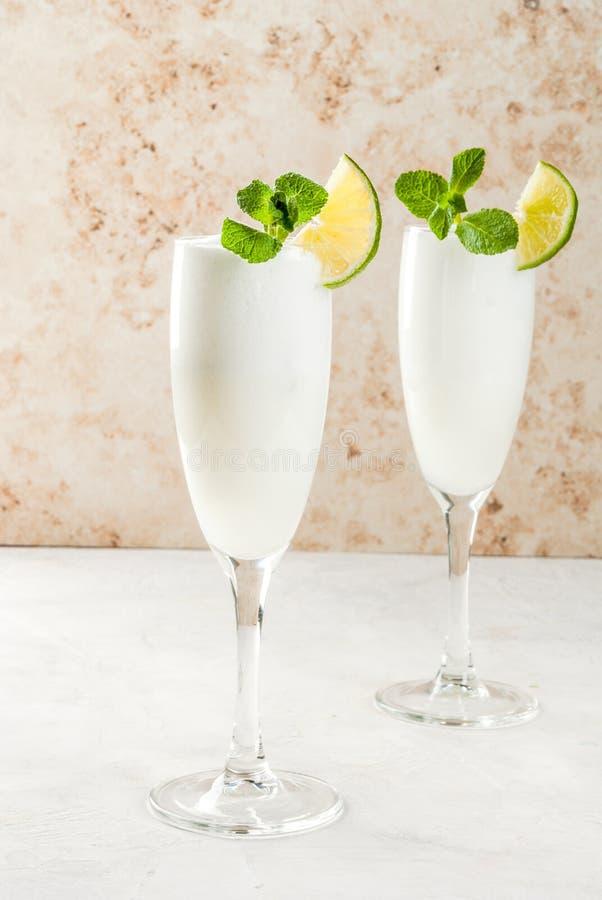 Italian alcoholic cocktail Sgroppino stock photos