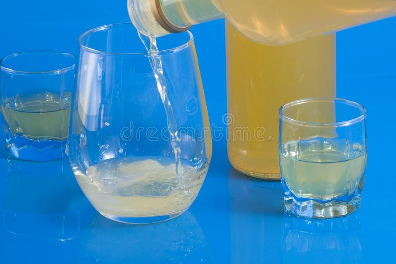 Italian alcoholic drink served in a glass royalty free stock photography