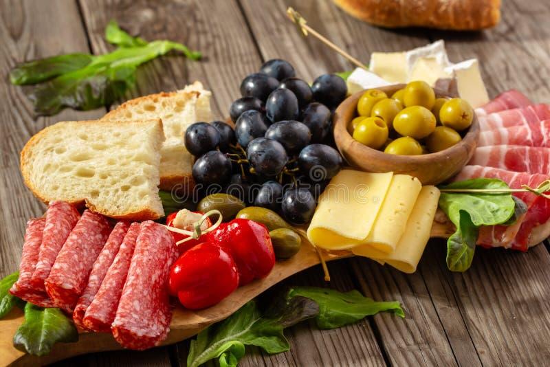 Italian antipasti snacks royalty free stock photo
