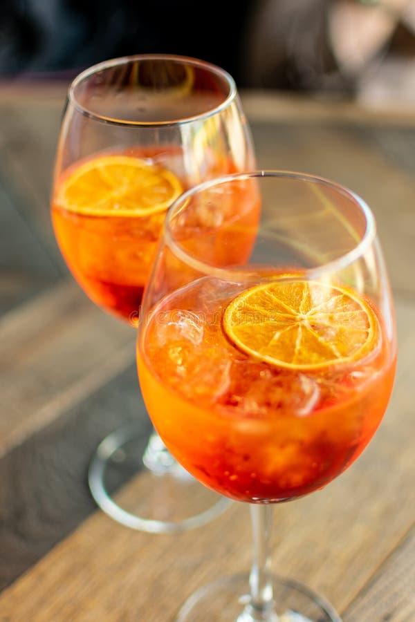 Italian aperitif `aperol stpritz` royalty free stock images