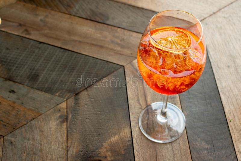 Italian aperitif `aperol stpritz` royalty free stock image