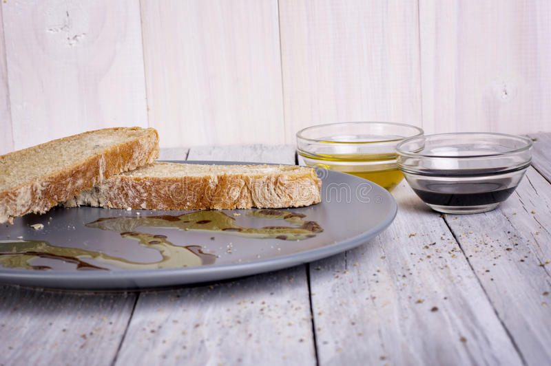 Italian Appetizer Bread Olive Oil stock photo