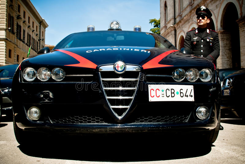 Italian arm of carabinieri stock photography