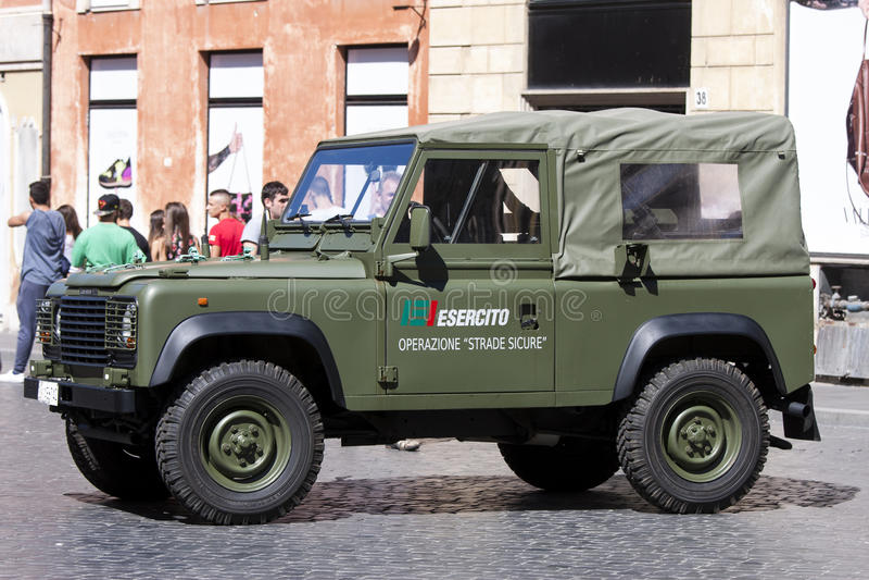Italian army off-road car (Esercito) stock photo