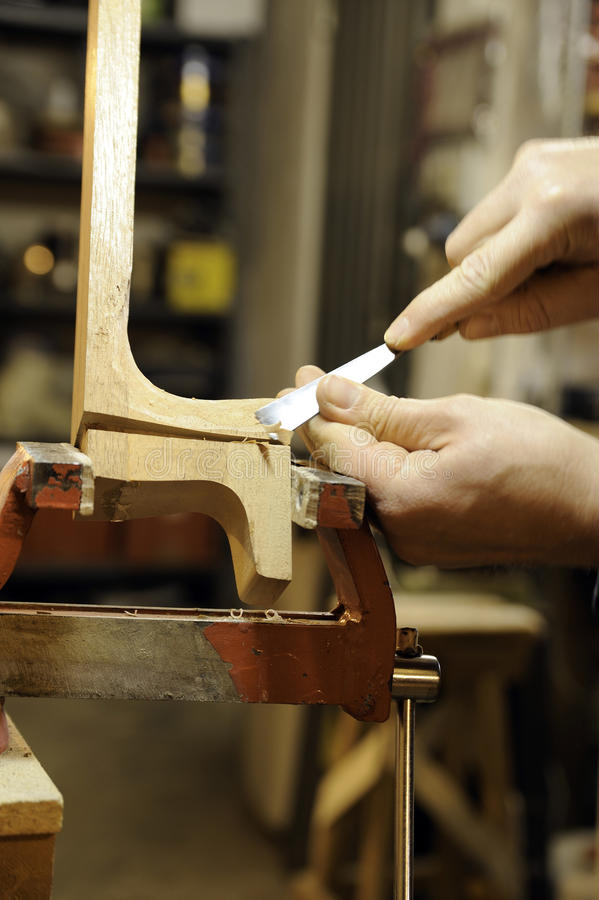 Download Italian Artisan Luthier Wood Carver Stock Photo - Image: 13141208