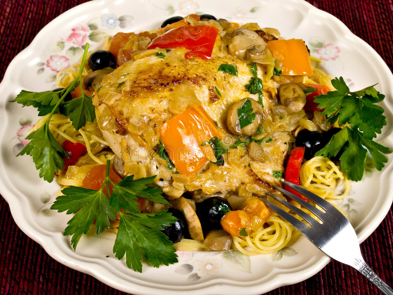 Italian Baked Chicken royalty free stock images