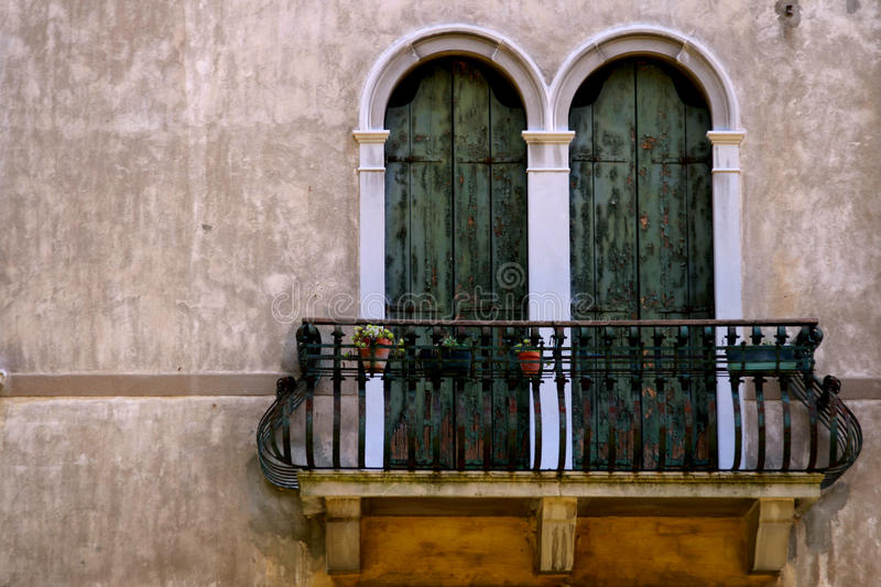 Italian balcony. With flowers - close up stock photos