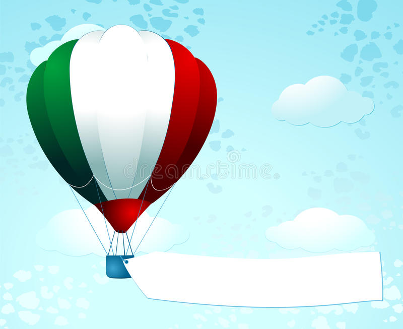 Download Italian Balloon With Banner Stock Illustration - Image: 23996799