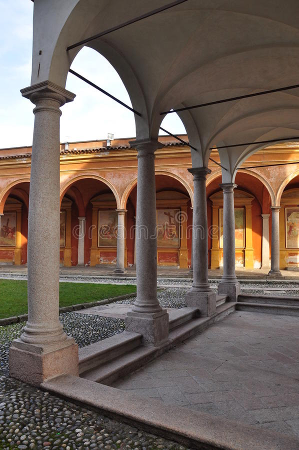 Download Italian Baroque Architecture Church Arches And Frescoes Stock Image