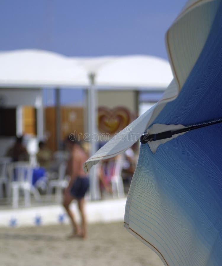 Italian beach umbrella stock image