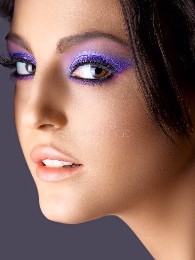 Italian beauty with fashion make-up royalty free stock image