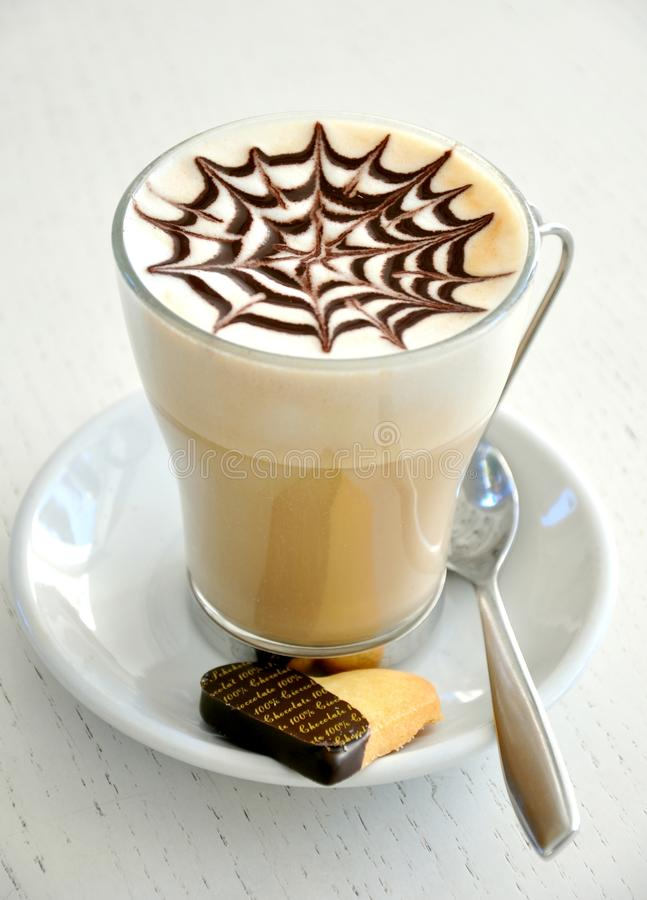 Download Italian Breakfast With Large Cappuccino And A Bisc Stock Image - Image: 23048097