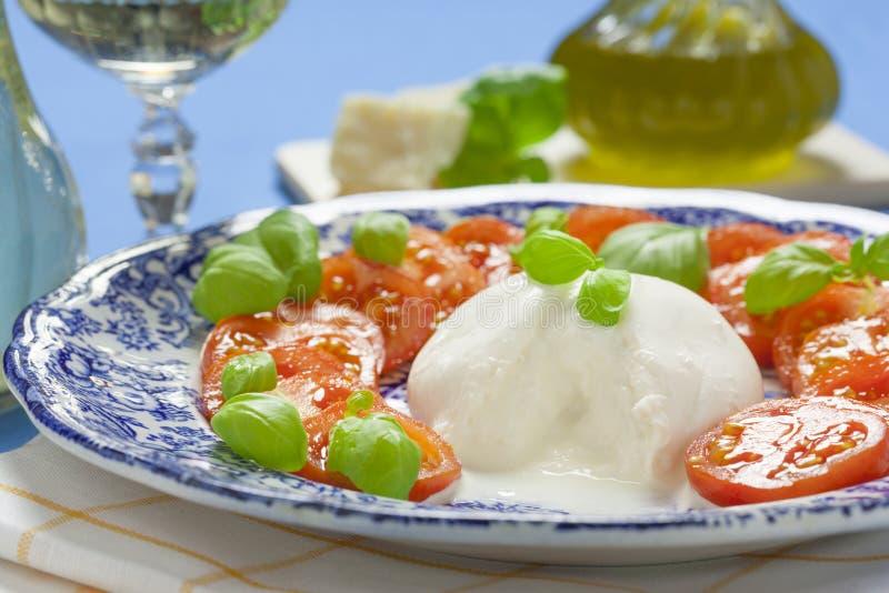 Italian Burrata stock photos