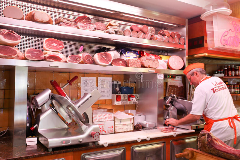 Download Italian butcher editorial photography. Image of meat - 32421007