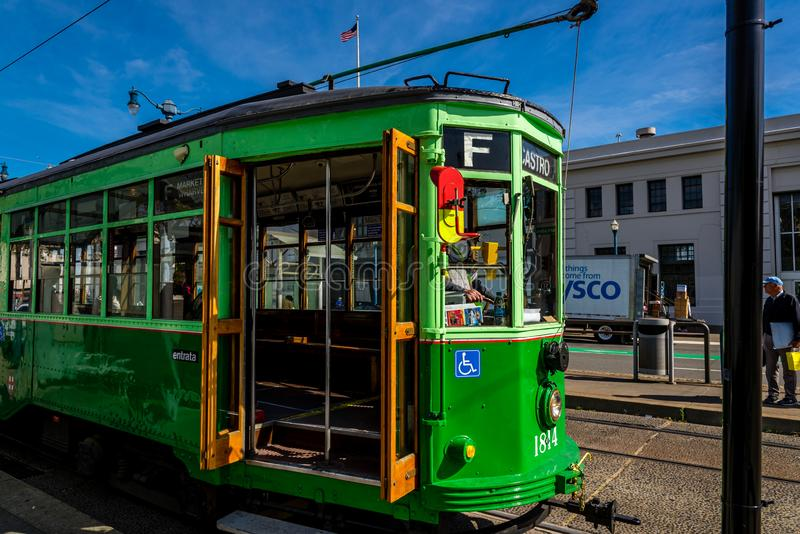 An Italian Cable Car In San Francisco Editorial ...