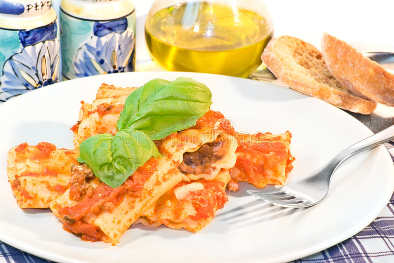 Italian Cannelloni Pasta stock photography