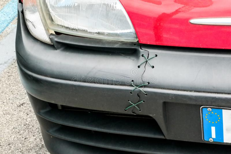 Italian car repair royalty free stock image