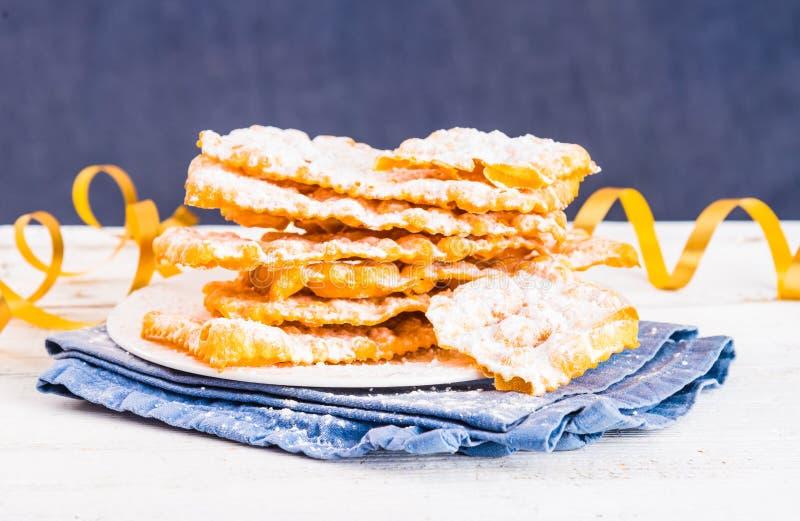 Italian carnival pastry. royalty free stock image