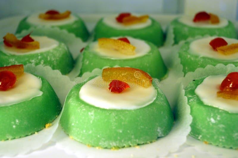 Italian cassata sicilian dessert stock photos