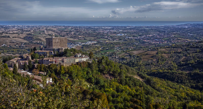 Italian castle royalty free stock photography