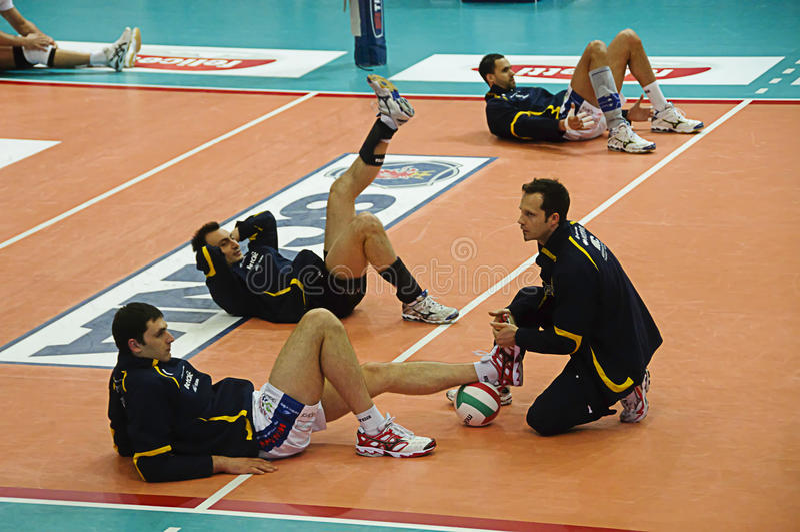 Italian Championship: Trentino Volley vs Macerata royalty free stock photos