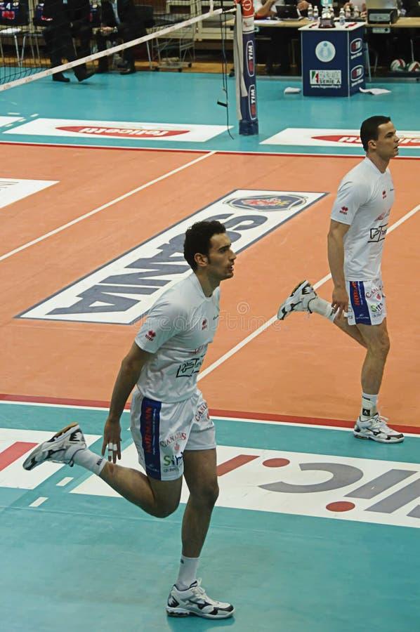 Italian Championship: Trentino Volley vs Macerata royalty free stock images