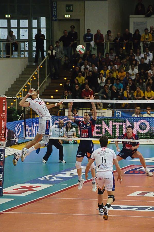 Italian Championship: Trentino Volley vs Macerata royalty free stock photography
