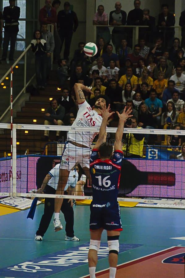 Italian Championship: Trentino Volley vs Macerata stock photo